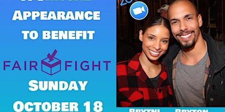 Brytni Sarpy and Bryton James Zoom Event to benefit FairFight.com tickets