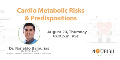 Cardio Metabolic Risks And Predispositions - Functional Medicine tickets