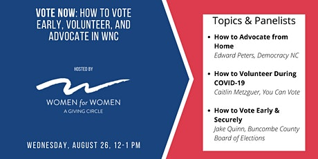 Vote Now: How to Vote Early, Volunteer, and Advocate in WNC tickets