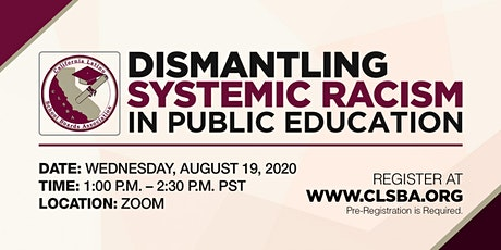 Dismantling Systemic Racism in Public Education tickets