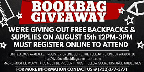 Back-to-School Back Pack Supply Give-a-Way tickets