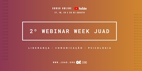 Webinar Week JUAD (2ª Edição) ingressos