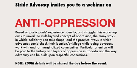 Stride Training: Anti-Oppression tickets