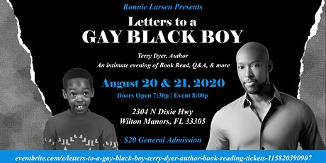 Letters to a GAY BLACK BOY, Terry Dyer, Author: Book Reading tickets