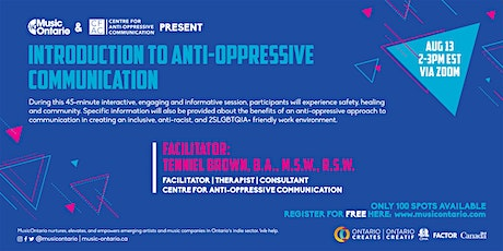 Introduction to Anti-Oppressive Communication tickets