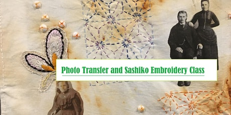 Photo Transfer and Sashiko Embroidery Class--Create a Keepsake tickets