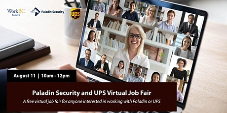 Paladin Security & UPS  Virtual Job Fair tickets