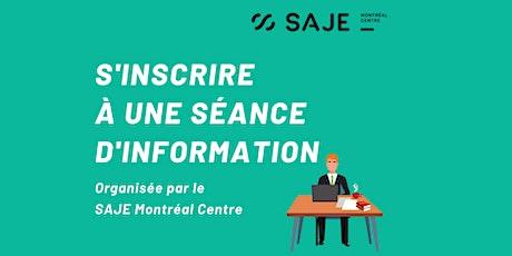 Séance d'information en ligne ( français) billets