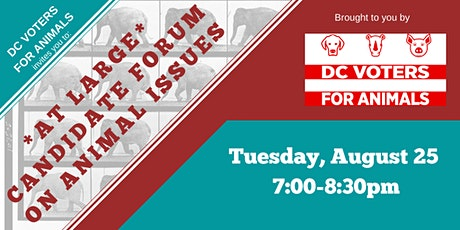 Candidate Forum on Animal Issues - DC At Large tickets