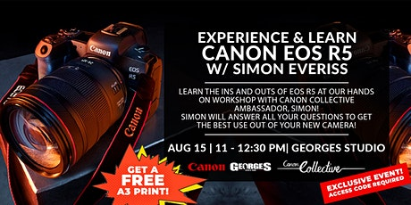 Canon EOS R5 | Try, Experience & Learn w/ Canon Collective, Simon Everiss tickets
