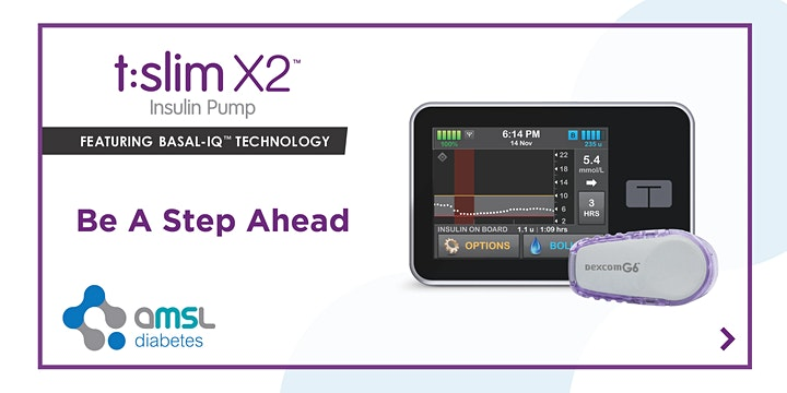 AMSL Diabetes: Dexcom G6 & t:slim X2™ with Basal-IQ™ Technology (VIC) image