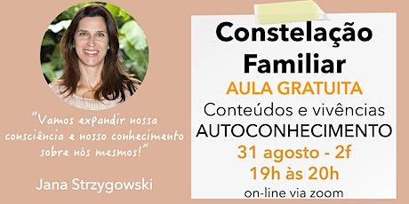 Constelação Familiar - conteúdos e vivências para autoconhecicmento ingressos