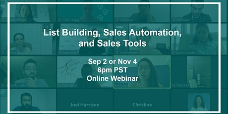 List Building, Sales Automation, and Sales Tools tickets