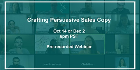 Crafting Persuasive Sales Copy tickets