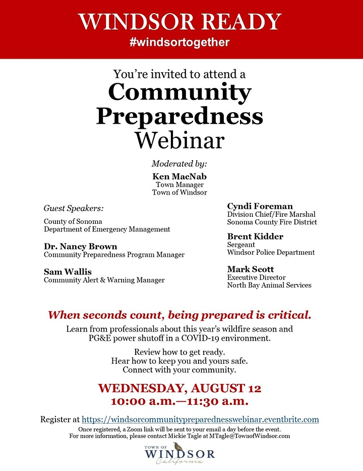 Community Preparedness Webinar image