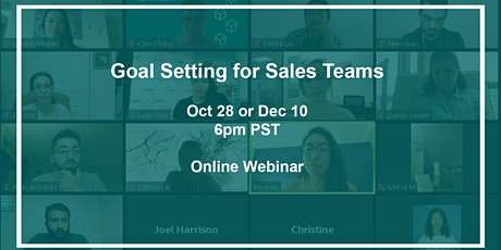 Goal Setting for Sales Teams tickets