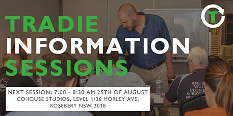 Tradie Information Session August 2020 tickets