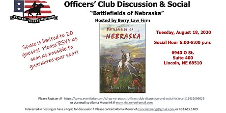 NGA-NE August Officer's Club Discussion and Social tickets