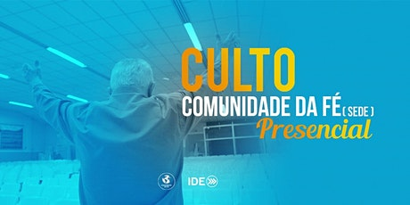 Culto Presencial  -  09/08/20 ingressos