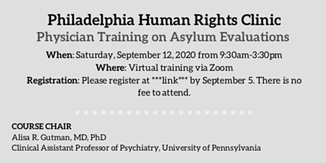 Philadelphia Human Rights Clinic: Clinician Training 2020 tickets