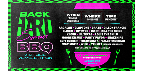 Crewtify Zoom Watch & Dance Party: BackHARD Summer BBQ Virtual Rave-a-Thon tickets