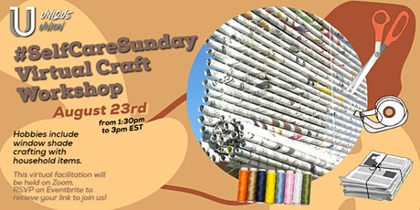 The Unique Union's #SelfCareSunday Virtual Craft Workshop tickets