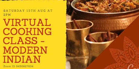 Virtual Cooking Class - Modern Indian tickets