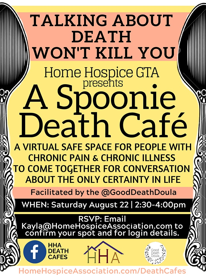 Virtual Spoonie Death Cafe - for People with Chronic Illness & Pain image