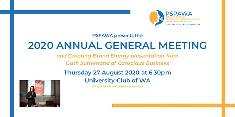 PSPAWA 2020 Annual General Meeting tickets