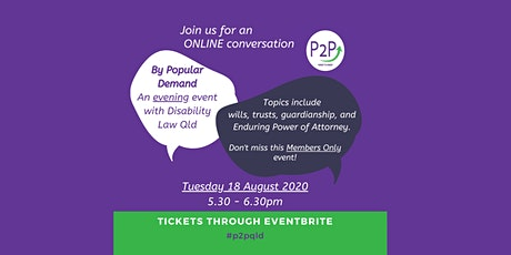 A Conversation with P2P - 18 August tickets