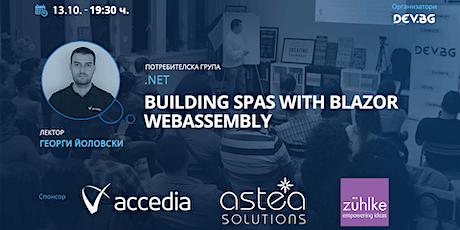 Webinar: .NET: Building SPAs with Blazor WebAssembly tickets