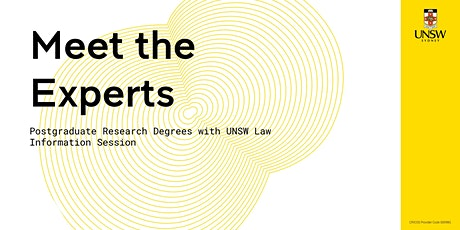 Meet the Experts: Postgraduate Research Degrees in the Faculty of Law, UNSW tickets