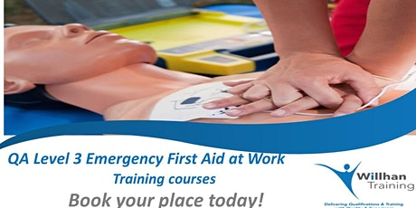 QA Level 3 Award in Emergency First Aid at Work (RQF) tickets