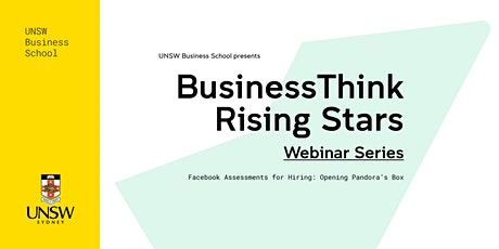 BusinessThink Rising Stars Webinar Series: Facebook Assessments for Hiring tickets