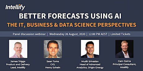 Better Forecasts using AI - The IT, Business & Data Science Perspectives tickets