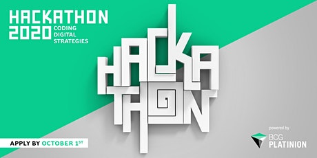 BCG Platinion Hackathon 2020 Tickets