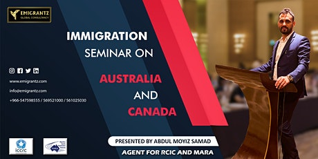 Immigration Seminar on Australia and Canada by ICCRC, MARA agents tickets
