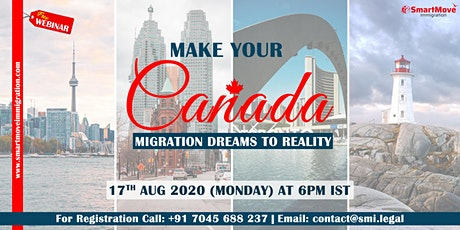 Interactive FREE Webinar - Explore Your Options to Immigrate To Canada tickets