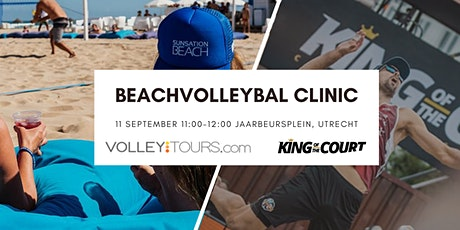 Exclusieve beachvolleybal clinic tijdens King of the Court tickets