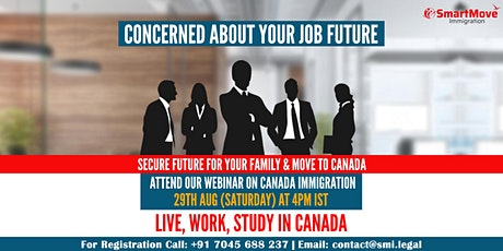 FREE Interactive Webinar - Different pathways to Migrate & settle in Canada tickets