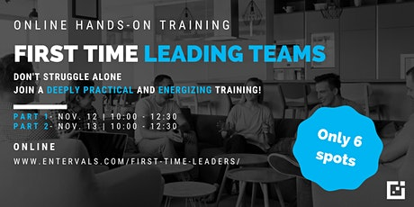 First Time Leading Teams  - Online Training tickets