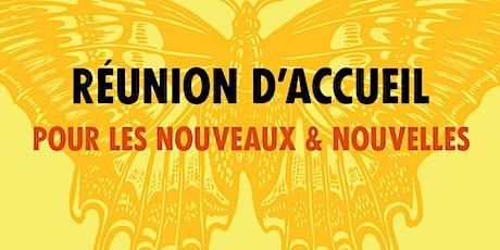 Accueil nouveaux et nouvelles Paris Centre billets