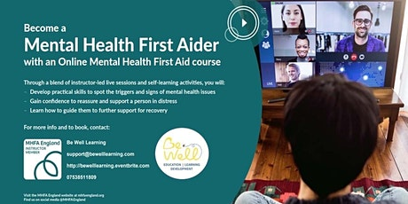 Online Mental Health First Aid (MHFA) course tickets