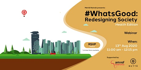 #WhatsGood Redesigning Society tickets