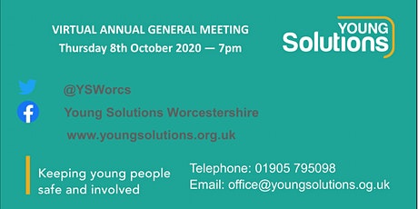 Virtual Annual General Meeting of Young Solutions Worcestershire tickets