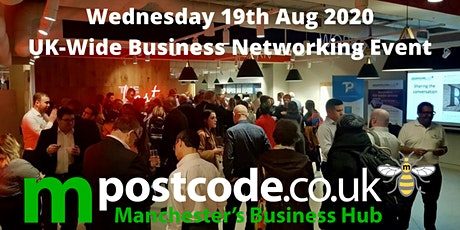 MPostcode August 19th National Online Networking Event. tickets