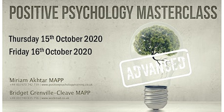 Advanced Positive Psychology Masterclass (Part 2) tickets