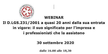 Il D.LGS.231/2001 a quasi 20 anni dalla sua entrata in vigore biglietti