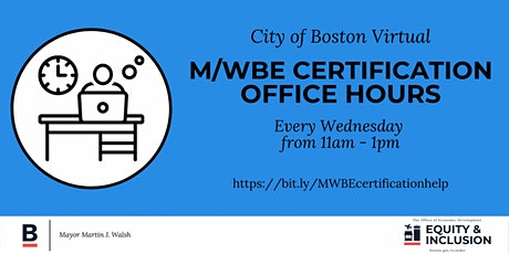 M/WBE Certification Office Hours tickets