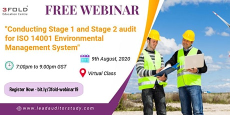 Free Webinar: Conducting Stage 1 and Stage 2 audit for ISO 14001 EMS tickets